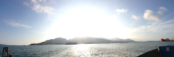 View from the balsa en route to Ilhabela.