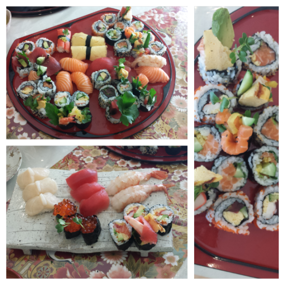The results from a morning of sushi-making.